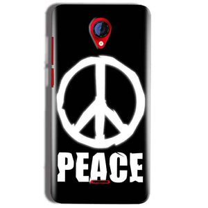 Micromax A106 Unite 2 Mobile Covers Cases Peace Sign In White - Lowest Price - Paybydaddy.com