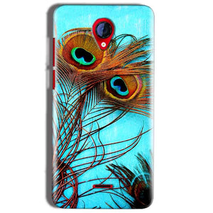 Micromax A106 Unite 2 Mobile Covers Cases Peacock blue wings - Lowest Price - Paybydaddy.com