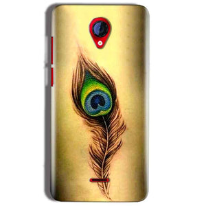 Micromax A106 Unite 2 Mobile Covers Cases Peacock coloured art - Lowest Price - Paybydaddy.com