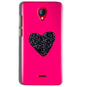 Micromax A106 Unite 2 Mobile Covers Cases Pink Glitter Heart - Lowest Price - Paybydaddy.com