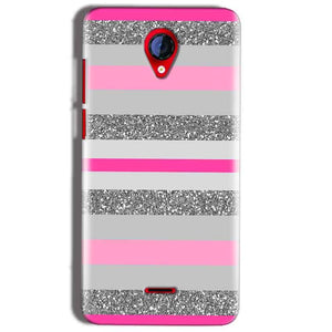 Micromax A106 Unite 2 Mobile Covers Cases Pink colour pattern - Lowest Price - Paybydaddy.com