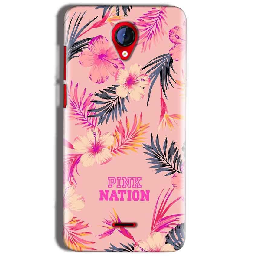 Micromax A106 Unite 2 Mobile Covers Cases Pink nation - Lowest Price - Paybydaddy.com