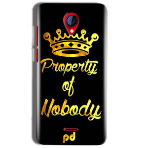 Micromax A106 Unite 2 Mobile Covers Cases Property of nobody with Crown - Lowest Price - Paybydaddy.com