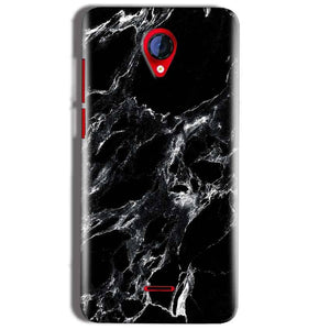 Micromax A106 Unite 2 Mobile Covers Cases Pure Black Marble Texture - Lowest Price - Paybydaddy.com