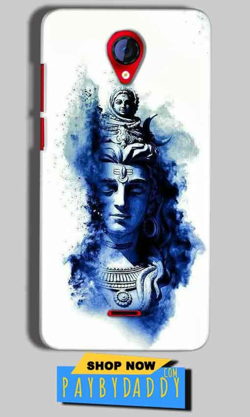 Micromax A106 Unite 2 Mobile Covers Cases Shiva Blue White - Lowest Price - Paybydaddy.com
