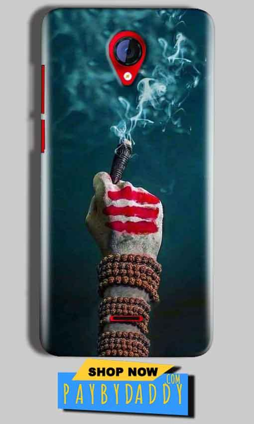 Micromax A106 Unite 2 Mobile Covers Cases Shiva Hand With Clilam - Lowest Price - Paybydaddy.com