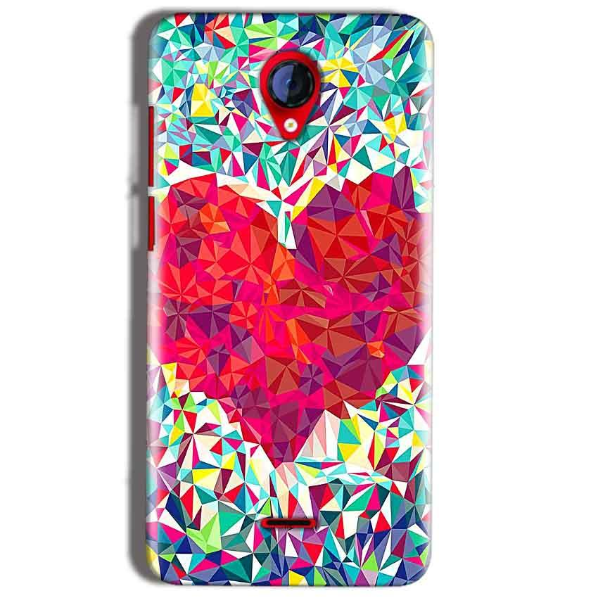 Micromax A106 Unite 2 Mobile Covers Cases heart Prisma design - Lowest Price - Paybydaddy.com