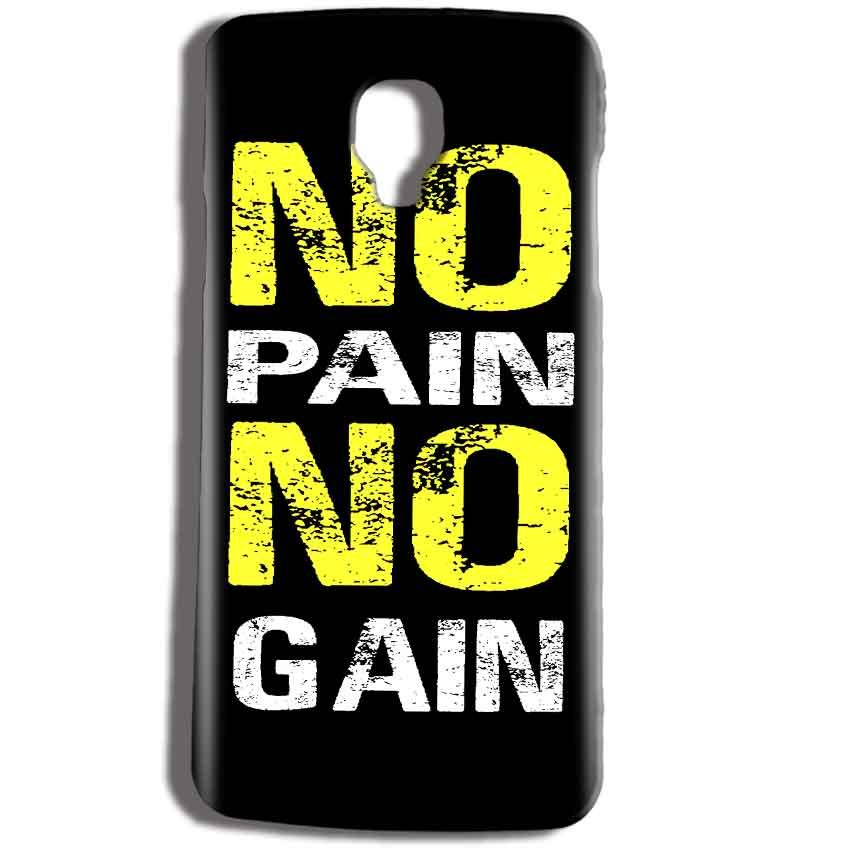 Micromax Bolt Q325 Mobile Covers Cases No Pain No Gain Yellow Black - Lowest Price - Paybydaddy.com
