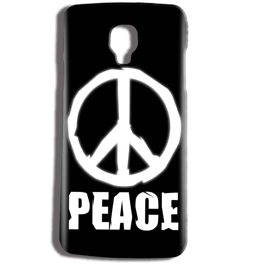 Micromax Bolt Q325 Mobile Covers Cases Peace Sign In White - Lowest Price - Paybydaddy.com