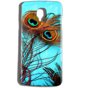 Micromax Bolt Q325 Mobile Covers Cases Peacock blue wings - Lowest Price - Paybydaddy.com