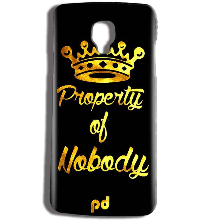 Micromax Bolt Q325 Mobile Covers Cases Property of nobody with Crown - Lowest Price - Paybydaddy.com