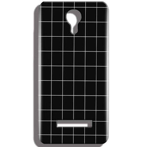 Micromax Bolt Q331 Mobile Covers Cases Black with White Checks - Lowest Price - Paybydaddy.com