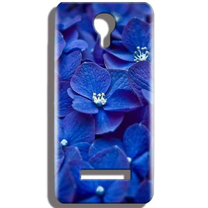 Micromax Bolt Q331 Mobile Covers Cases Blue flower - Lowest Price - Paybydaddy.com