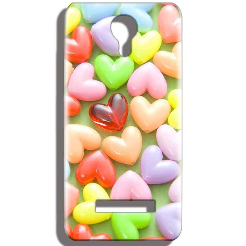 Micromax Bolt Q331 Mobile Covers Cases Heart in Candy - Lowest Price - Paybydaddy.com