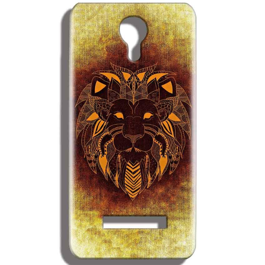 Micromax Bolt Q331 Mobile Covers Cases Lion face art - Lowest Price - Paybydaddy.com