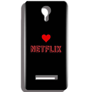 Micromax Bolt Q331 Mobile Covers Cases NETFLIX WITH HEART - Lowest Price - Paybydaddy.com