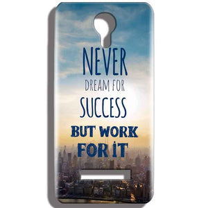 Micromax Bolt Q331 Mobile Covers Cases Never Dreams For Success But Work For It Quote - Lowest Price - Paybydaddy.com
