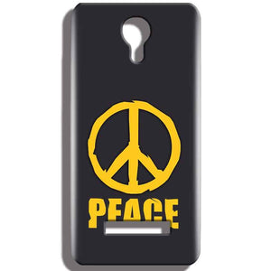 Micromax Bolt Q331 Mobile Covers Cases Peace Blue Yellow - Lowest Price - Paybydaddy.com