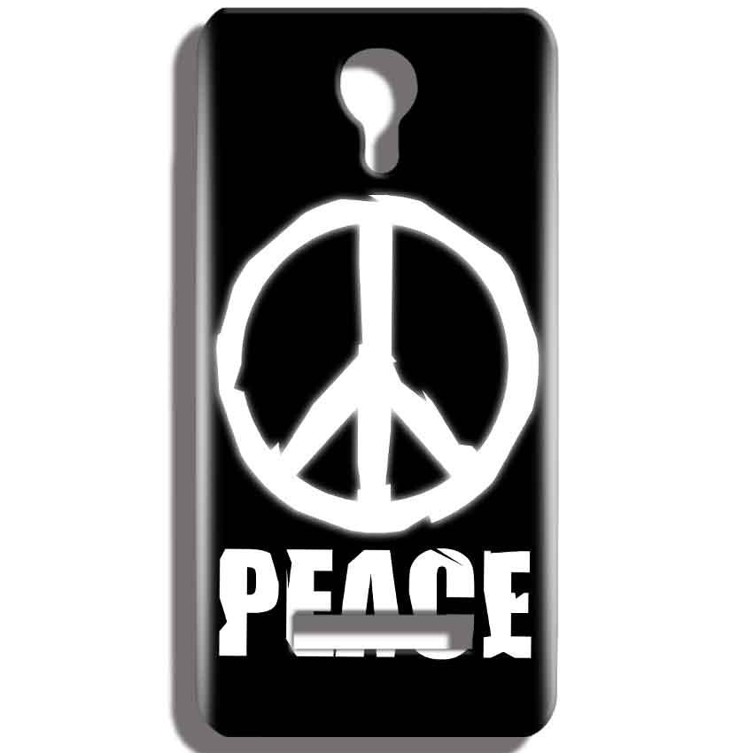 Micromax Bolt Q331 Mobile Covers Cases Peace Sign In White - Lowest Price - Paybydaddy.com