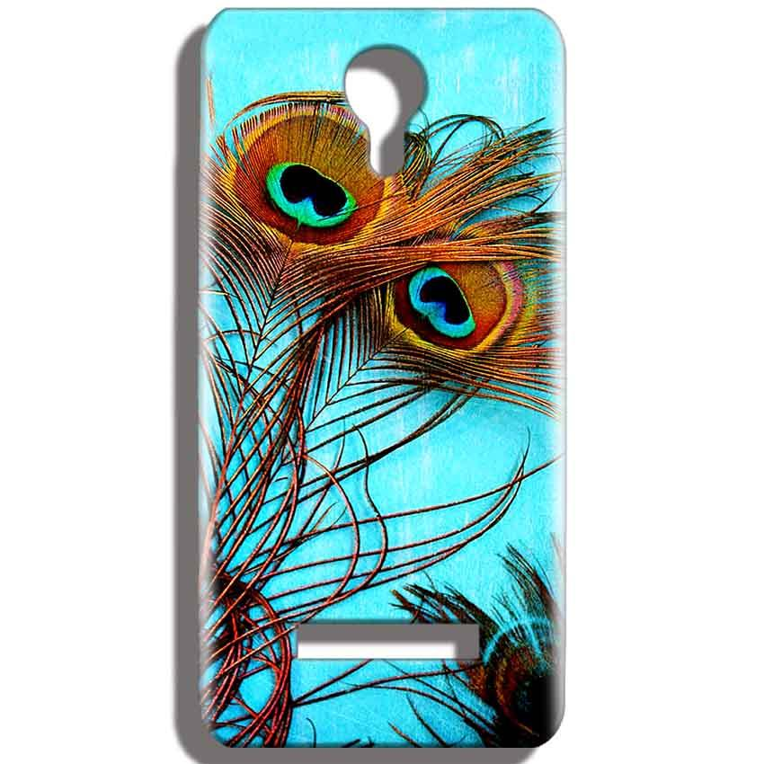Micromax Bolt Q331 Mobile Covers Cases Peacock blue wings - Lowest Price - Paybydaddy.com