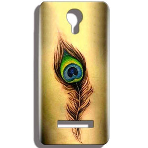Micromax Bolt Q331 Mobile Covers Cases Peacock coloured art - Lowest Price - Paybydaddy.com
