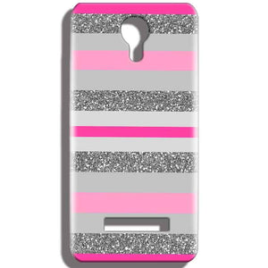 Micromax Bolt Q331 Mobile Covers Cases Pink colour pattern - Lowest Price - Paybydaddy.com