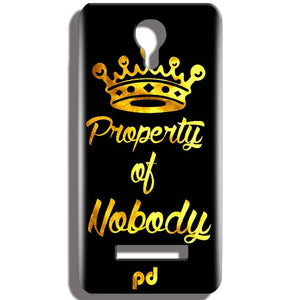Micromax Bolt Q331 Mobile Covers Cases Property of nobody with Crown - Lowest Price - Paybydaddy.com