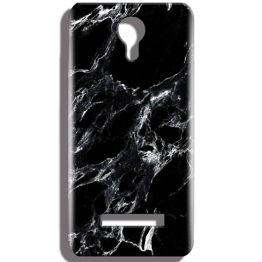 Micromax Bolt Q331 Mobile Covers Cases Pure Black Marble Texture - Lowest Price - Paybydaddy.com