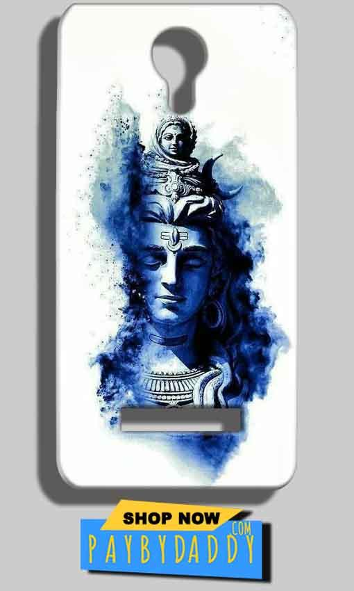 Micromax Bolt Q331 Mobile Covers Cases Shiva Blue White - Lowest Price - Paybydaddy.com