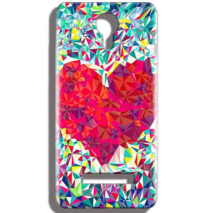 Micromax Bolt Q331 Mobile Covers Cases heart Prisma design - Lowest Price - Paybydaddy.com