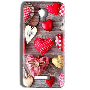 Micromax Bolt Q332 Mobile Covers Cases Hearts- Lowest Price - Paybydaddy.com