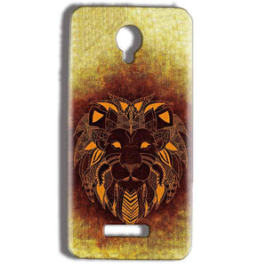 Micromax Bolt Q332 Mobile Covers Cases Lion face art - Lowest Price - Paybydaddy.com