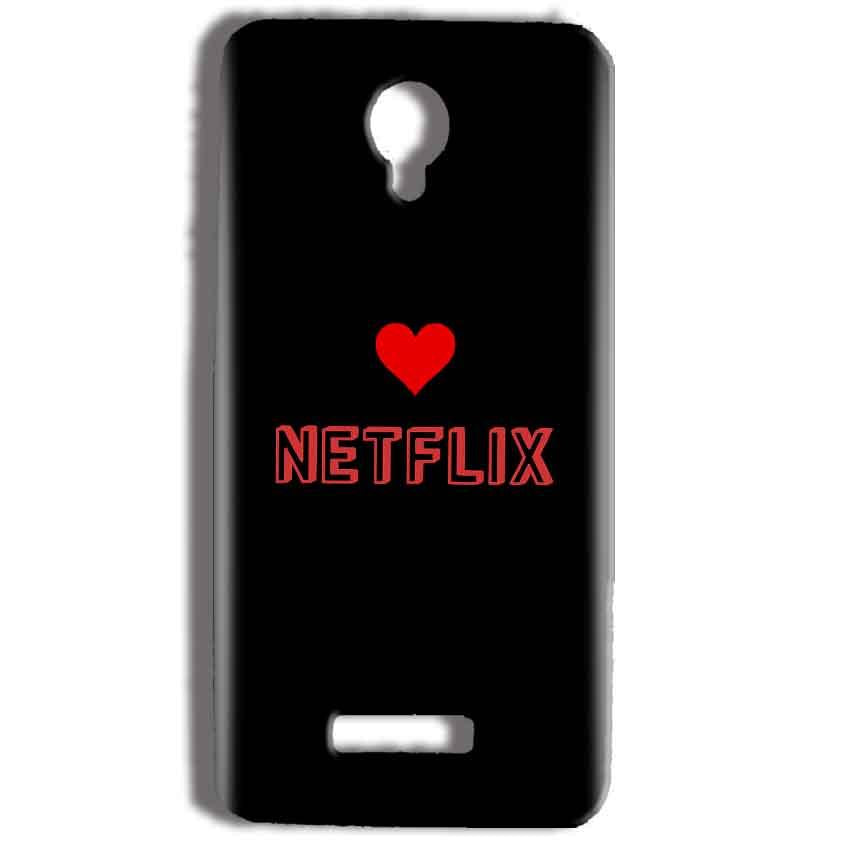 Micromax Bolt Q332 Mobile Covers Cases NETFLIX WITH HEART - Lowest Price - Paybydaddy.com