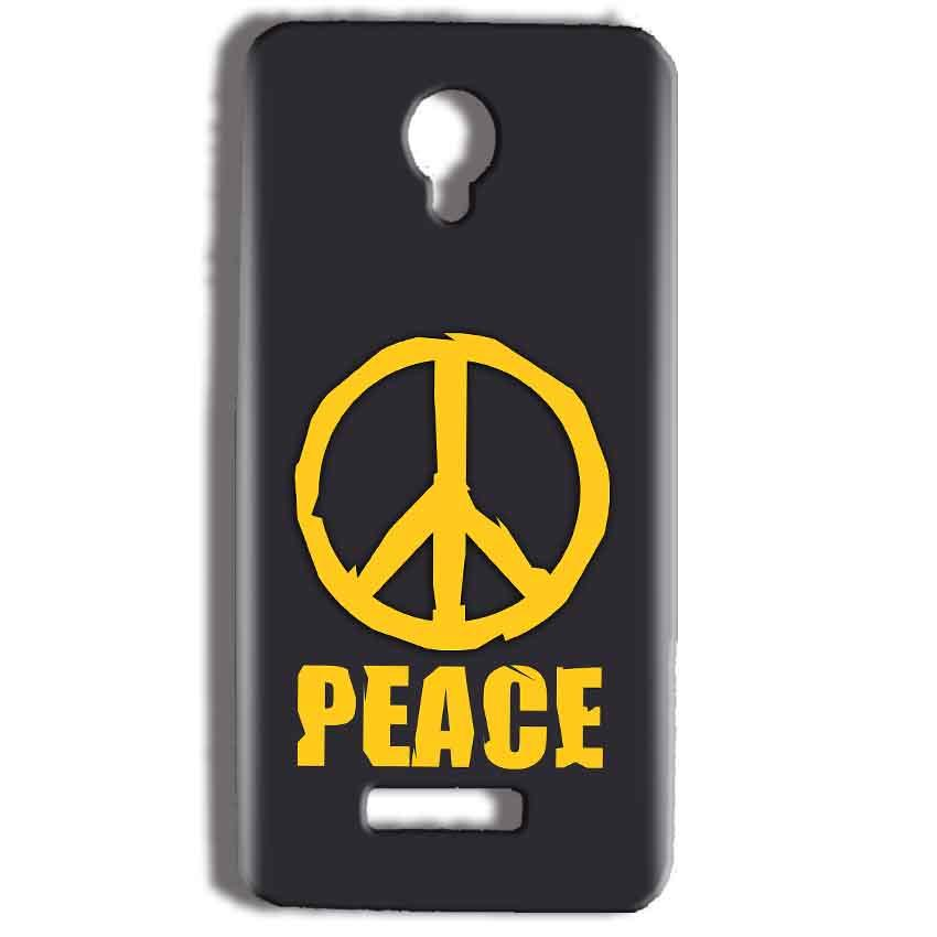 Micromax Bolt Q332 Mobile Covers Cases Peace Blue Yellow - Lowest Price - Paybydaddy.com