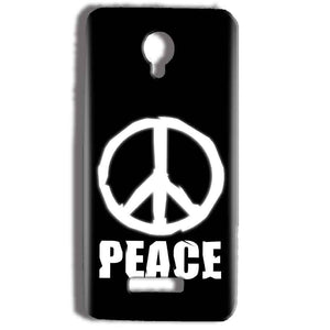 Micromax Bolt Q332 Mobile Covers Cases Peace Sign In White - Lowest Price - Paybydaddy.com