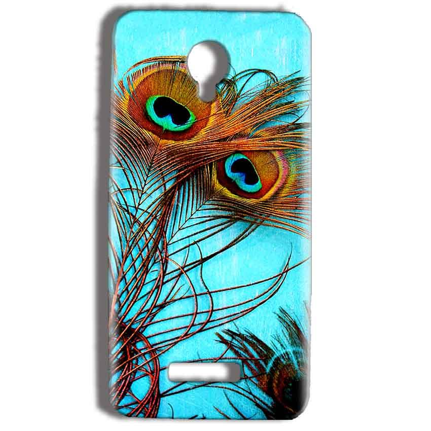 Micromax Bolt Q332 Mobile Covers Cases Peacock blue wings - Lowest Price - Paybydaddy.com