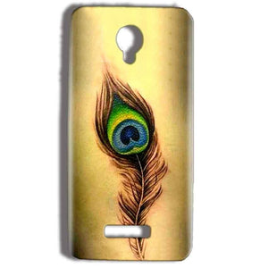 Micromax Bolt Q332 Mobile Covers Cases Peacock coloured art - Lowest Price - Paybydaddy.com