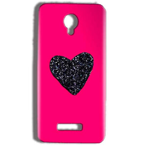 Micromax Bolt Q332 Mobile Covers Cases Pink Glitter Heart - Lowest Price - Paybydaddy.com