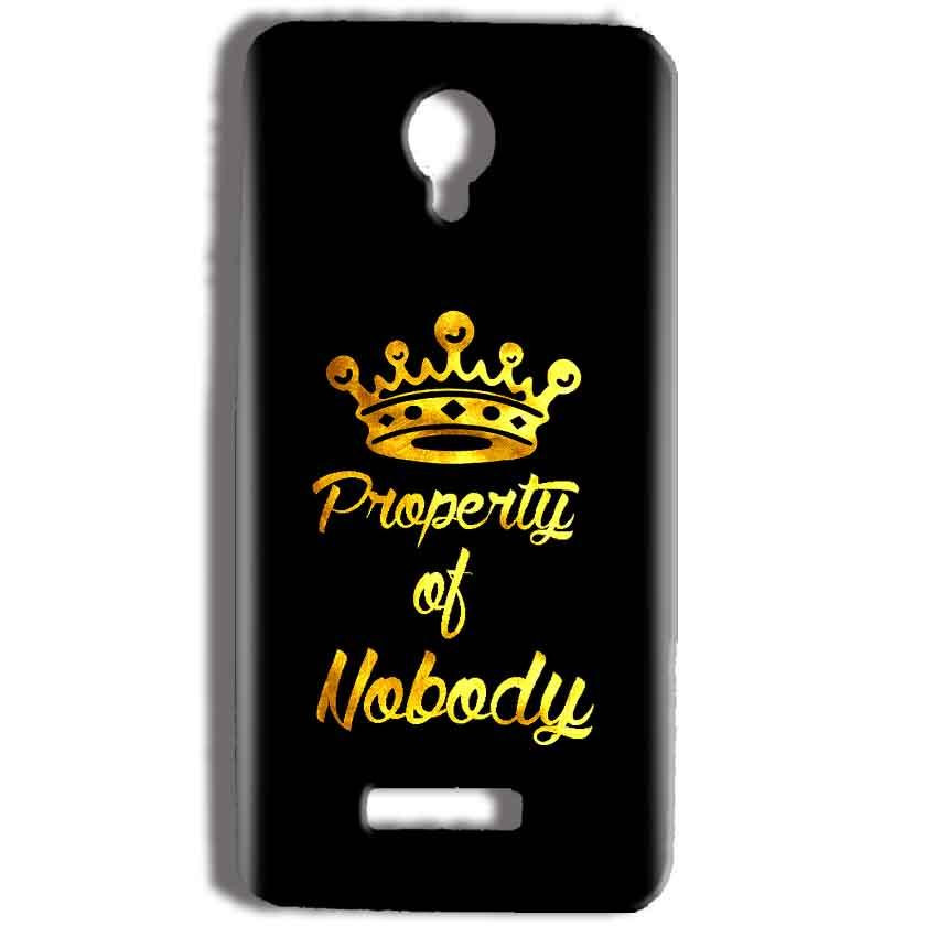 Micromax Bolt Q332 Mobile Covers Cases Property of nobody with Crown - Lowest Price - Paybydaddy.com