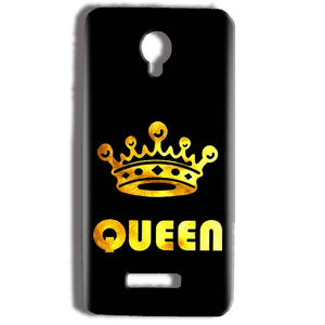 Micromax Bolt Q332 Mobile Covers Cases Queen With Crown in gold - Lowest Price - Paybydaddy.com