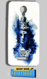 Micromax Bolt Q332 Mobile Covers Cases Shiva Blue White - Lowest Price - Paybydaddy.com