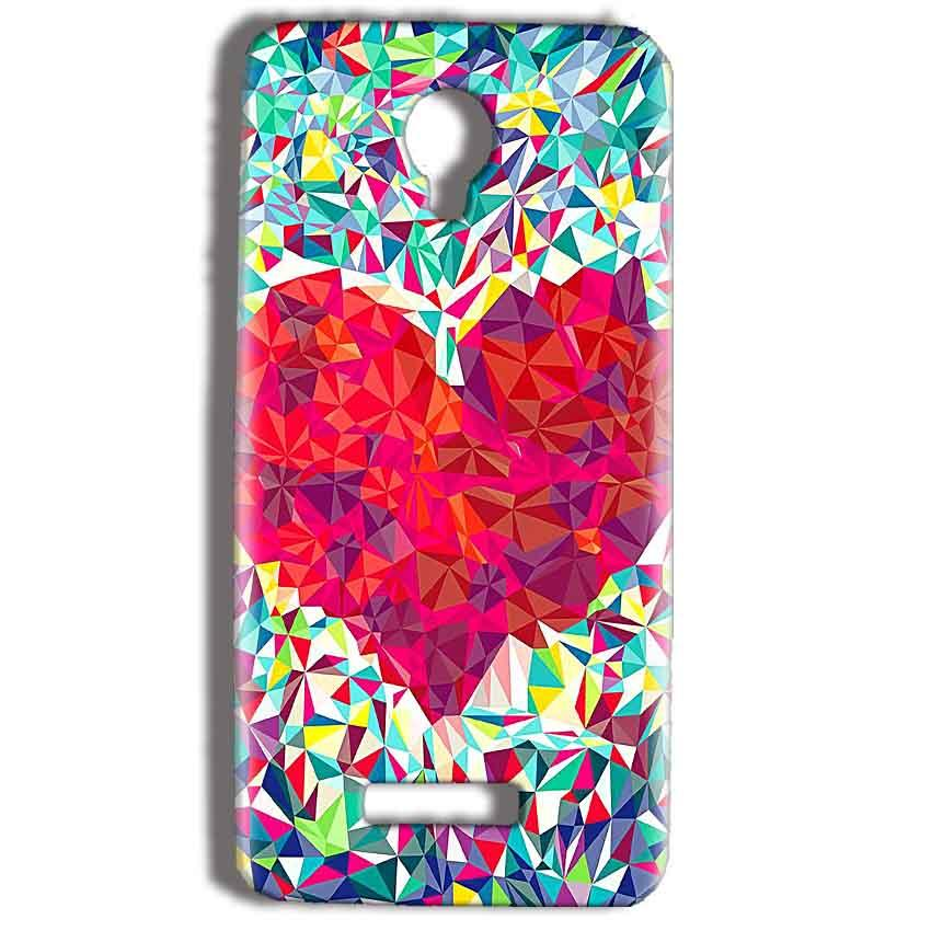 Micromax Bolt Q332 Mobile Covers Cases heart Prisma design - Lowest Price - Paybydaddy.com