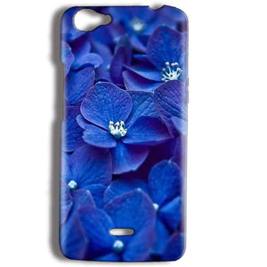 Micromax Bolt Q338 Mobile Covers Cases Blue flower - Lowest Price - Paybydaddy.com