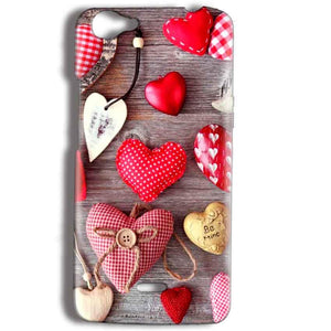 Micromax Bolt Q338 Mobile Covers Cases Hearts- Lowest Price - Paybydaddy.com