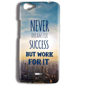 Micromax Bolt Q338 Mobile Covers Cases Never Dreams For Success But Work For It Quote - Lowest Price - Paybydaddy.com