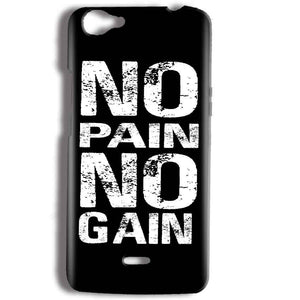 Micromax Bolt Q338 Mobile Covers Cases No Pain No Gain Black And White - Lowest Price - Paybydaddy.com