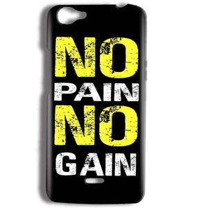 Micromax Bolt Q338 Mobile Covers Cases No Pain No Gain Yellow Black - Lowest Price - Paybydaddy.com