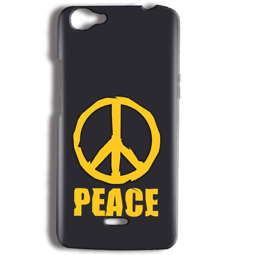 Micromax Bolt Q338 Mobile Covers Cases Peace Blue Yellow - Lowest Price - Paybydaddy.com