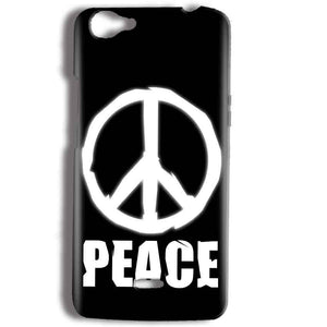 Micromax Bolt Q338 Mobile Covers Cases Peace Sign In White - Lowest Price - Paybydaddy.com
