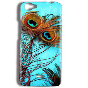 Micromax Bolt Q338 Mobile Covers Cases Peacock blue wings - Lowest Price - Paybydaddy.com